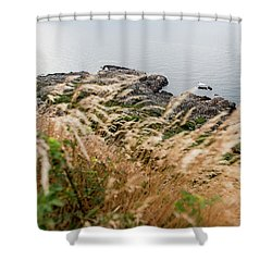 Cliffs At Kullaberg Shower Curtain