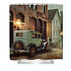 Shower Curtain featuring the photograph Cobblestone Streets by Robin-Lee Vieira