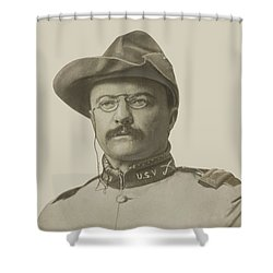 Colonel Theodore Roosevelt Shower Curtain by War Is Hell Store