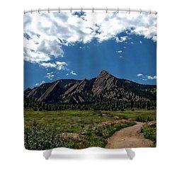 Colorado Landscape Shower Curtain by Anthony Dezenzio