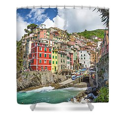 Colors Of Cinque Terre Shower Curtain