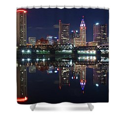 Columbus Ohio Shower Curtain by Frozen in Time Fine Art Photography
