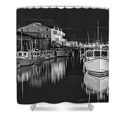 Custom House Wharf Shower Curtain by Richard Bean