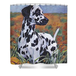 Shower Curtain featuring the painting Dalmatian by Lee Ann Shepard