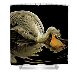 Dalmatian Pelican Shower Curtain by Michal Boubin