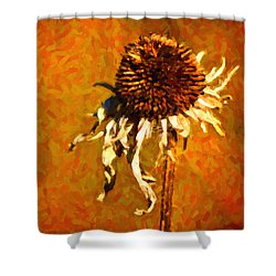 Dead Flower Shower Curtain