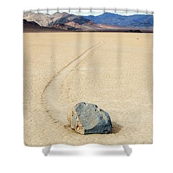 Death Valley Racetrack Shower Curtain