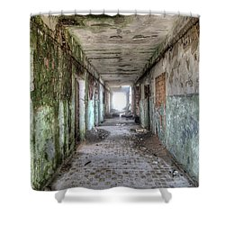 Derelict Military Garrison Shower Curtain by Michal Boubin