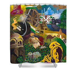 Discover India Shower Curtain