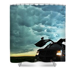 Dominating The Storm Shower Curtain