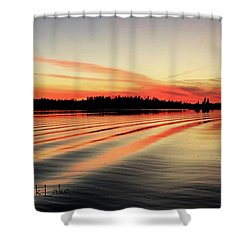 Doug Hobson, Red Rock Lake Shower Curtain by Tom Janca