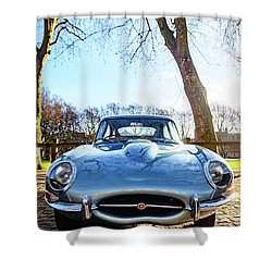 E Type Jaguar Shower Curtain
