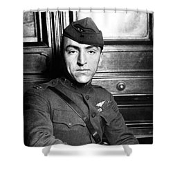 Shower Curtain featuring the photograph Eddie Rickenbacker by War Is Hell Store