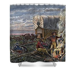 Emigrants To The West Shower Curtain by Granger