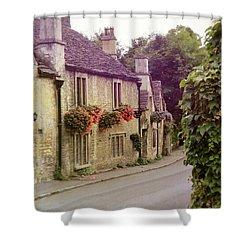 English Village Shower Curtain by Jill Battaglia