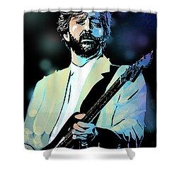 Eric Clapton Shower Curtain by Paul Sachtleben