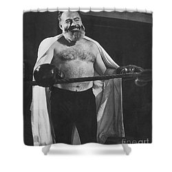 Ernest Hemingway Shower Curtain by Granger