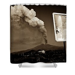 Etna, The Volcano Shower Curtain