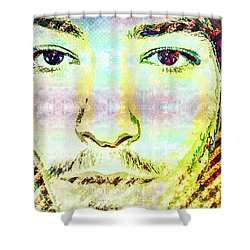 Ezra Miller Shower Curtain by Svelby Art