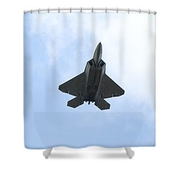 F-22 Raptor Shower Curtain by Sebastian Musial