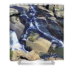 Falls Park Shower Curtain by Gina Lee Manley