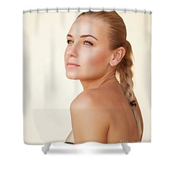 Fashion Portrait Shower Curtain