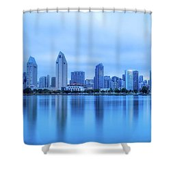 Feeling Blue Shower Curtain by Joseph S Giacalone