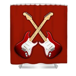 Fender Stratocaster American Standart Red   Shower Curtain by Doron Mafdoos