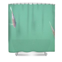 Shower Curtain featuring the photograph 2 Fish In A Pond by Paul SEQUENCE Ferguson             sequence dot net