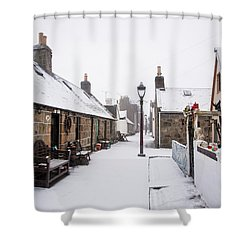 Fittie In The Snow Shower Curtain