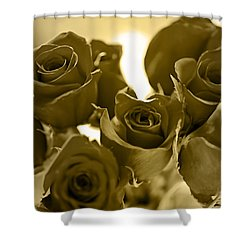 Floral Gold Collection Shower Curtain
