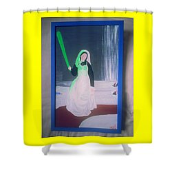 Florescent Lighting Gale Shower Curtain by MERLIN Vernon