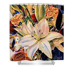 Flowers For You Shower Curtain by MaryLee Parker
