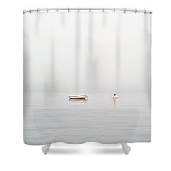 Foggy Mooring Shower Curtain
