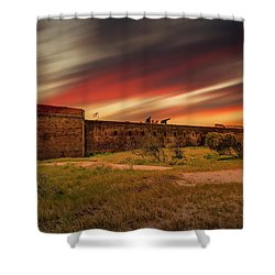 Shower Curtain featuring the photograph Fort Clinch by Peter Lakomy
