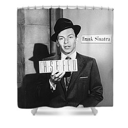 Frank Sinatra Shower Curtain by Underwood Archives