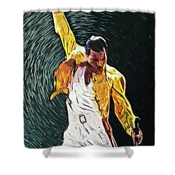 Freddie Mercury Shower Curtain