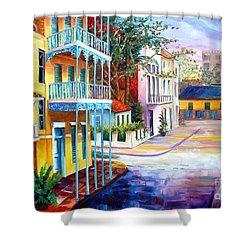 French Quarter Sunrise Shower Curtain by Diane Millsap