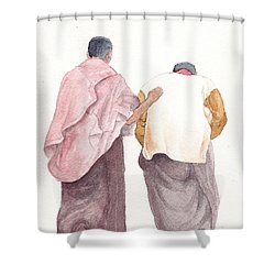 Friends Shower Curtain by Annemeet Hasidi- van der Leij