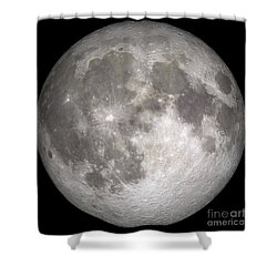 Shower Curtain featuring the photograph Full Moon by Stocktrek Images