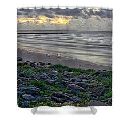 Galveston Sunrise Shower Curtain