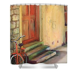 Shower Curtain featuring the painting Gato by Anne Dentler