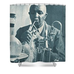 George W. Carver, African-american Shower Curtain by Science Source
