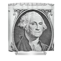 Shower Curtain featuring the photograph George Washington by Les Cunliffe