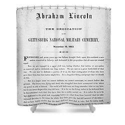 Gettysburg Address, 1863 Shower Curtain by Granger