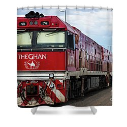 ghan at Alice Springs Shower Curtain