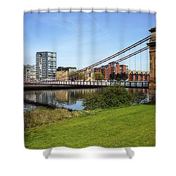Shower Curtain featuring the photograph Glasgow by Jeremy Lavender Photography