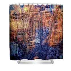 Gloucester Docks Shower Curtain by Ron Harpham