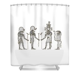 Gods Of Ancient Egypt Shower Curtain