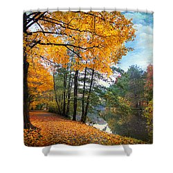 Golden Carpet Shower Curtain by Jessica Jenney